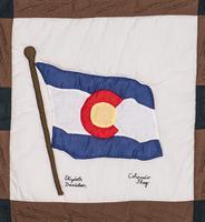 Vintage Vail Quilt Square, Colorado Flag