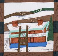 Vintage Vail Quilt Square, Blanche Ski Shop, 1962