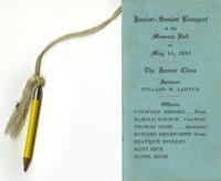 Eagle High School Junior-Senior Banquet dance card, 1932