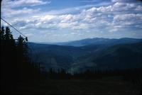 At the top of ski lift