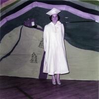 Cynthia Magura graduation photo, 1956